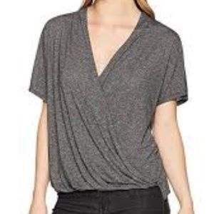 MICHAEL STARS- Brooklyn Crossover Shirt, brown, M
